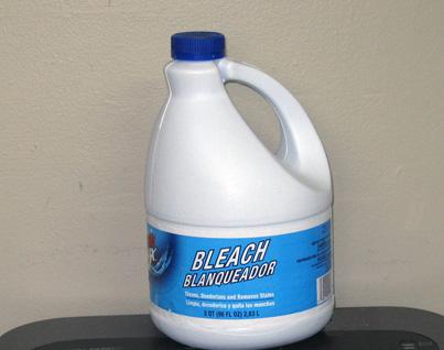 Bleach can release chlorine gas