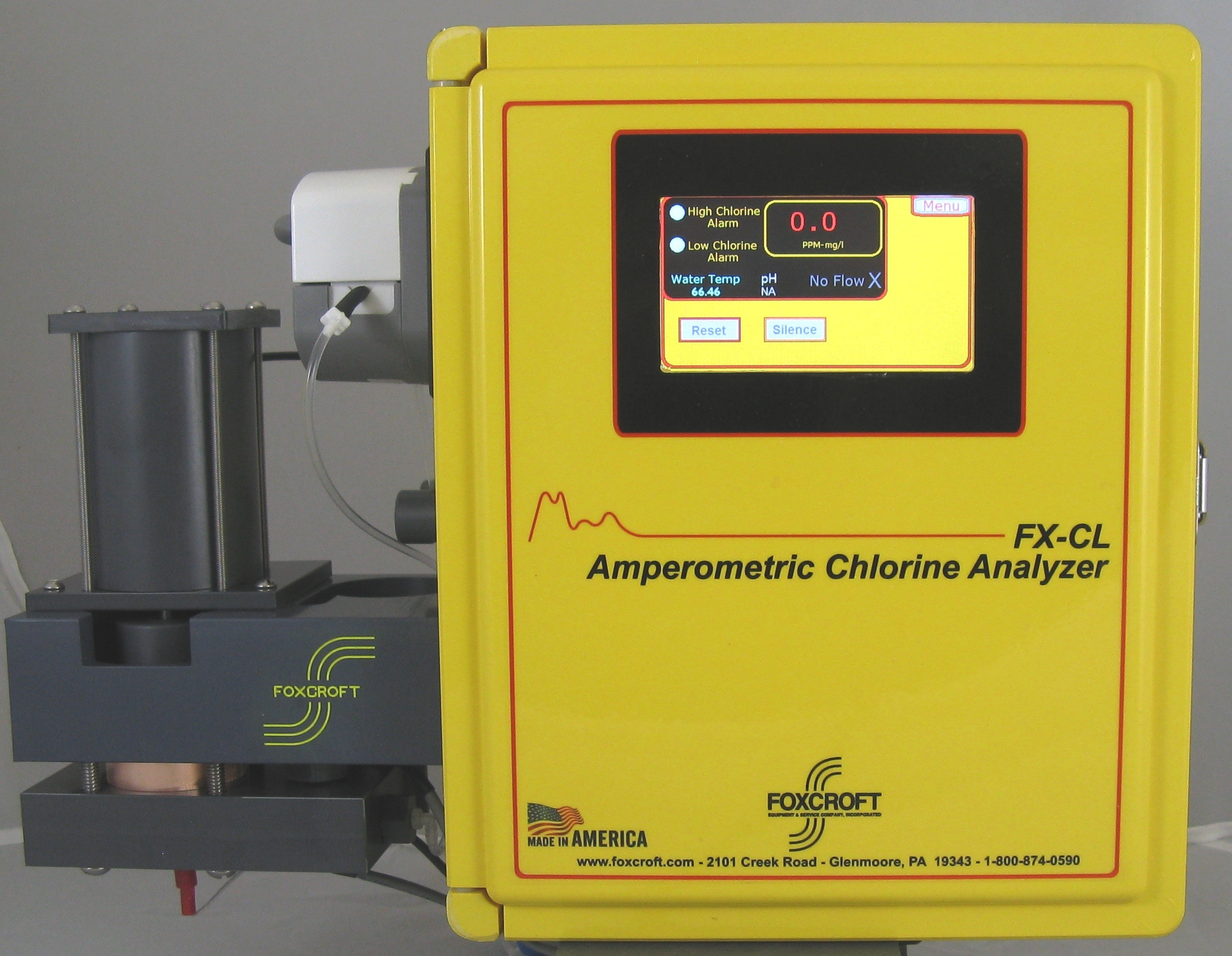 Foxcroft FX-CLv2 bare electrode chlorine analyzer works where membrane covered chlorine  sensors can't