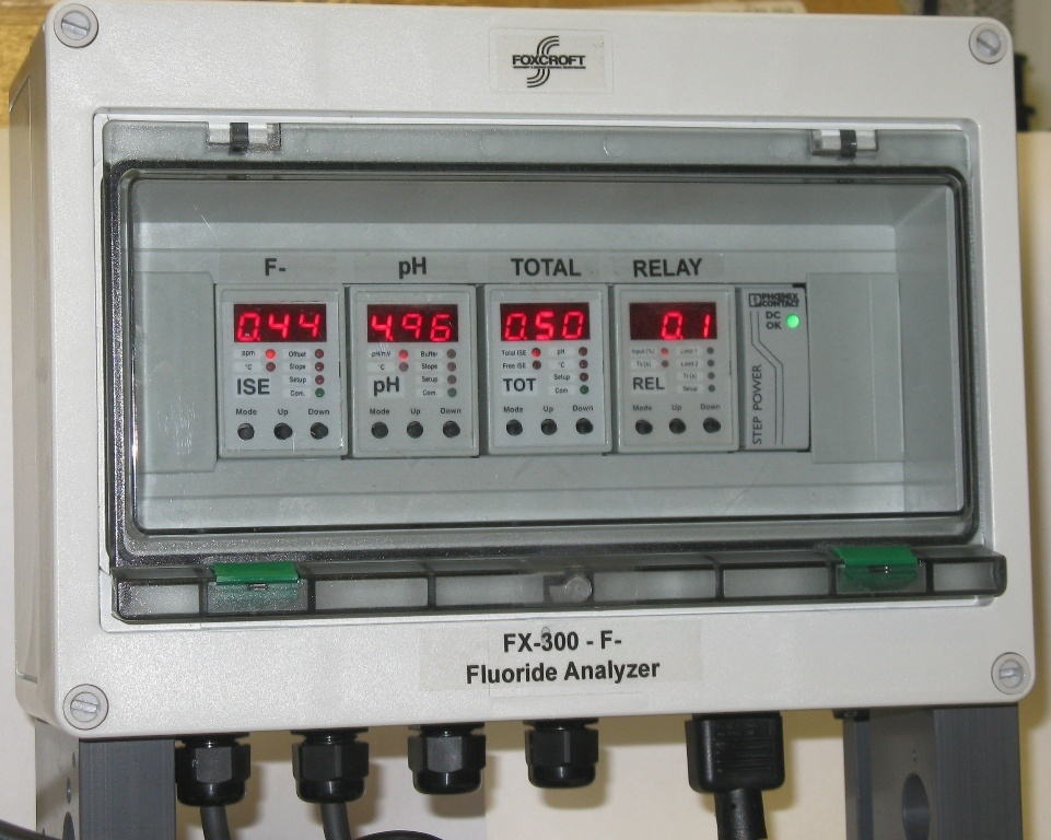 Foxcroft multichannel inline reagentless fluoride analyzer